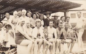 RP: Swimmers , Saltair Beach , Great Salt Lake , Utah , 30-40s