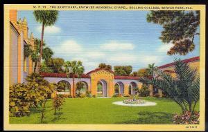 Rollins College Chapel Winter Park FL unused c1934