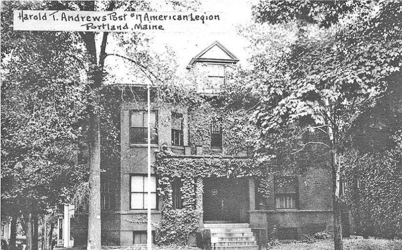 Portland ME Harold T. Andrews Post # 17 American Legion H. J. Burrowes Postcard