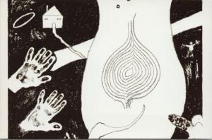 Untitled Drawing Carol Martyn Art Artist Repro Unused Postcard D50