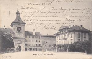 MORAT (Fribourg), Switzerland, PU-1911; La Tour D'Aarberg