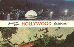 Greetings from Hollywood, California unused Postcard