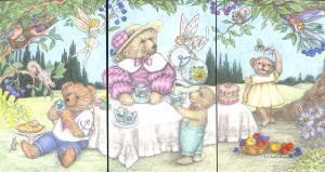Flying Rabbit Tea Party for Janet Dolores Davis Installment 3 Postcards