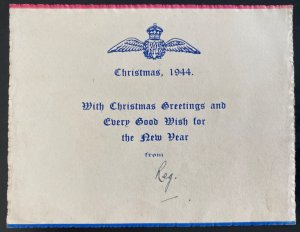England Royal Air Force Christmas Wishes Card Military RAF WW2 1944