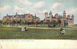 Raphael Tuck National Military Home Dayton Ohio Hospitals 1907 Divided Postcard