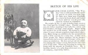 Circus Acts Post Cards Sketch of his life, Smallest person on earth 18 inches...