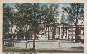 FREMONT , Nebraska, PU-1920 ; New Fountain in city Park