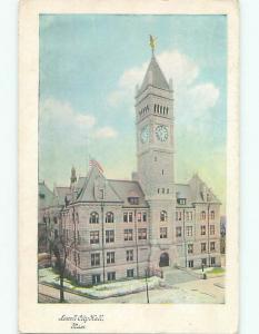 Pre-1907 CITY HALL Lowell Massachusetts MA n5918
