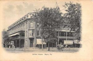 Sayre Pennsylvania Wilbur House Street View Antique Postcard K53023
