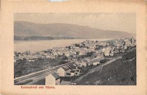 Leutesdorf Germany am Rhein Birds Eye View Vintage Postcard JD933858