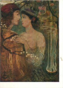 Painting The Magician's Garden Gulacsy Lajos Art Postcard