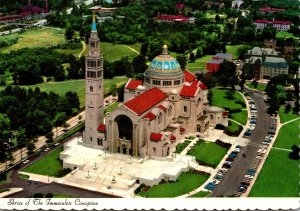 Washington D C Aerial View Shrine Of The Immaculate Conception 1973