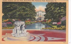 Pennsylvania Philadelphia Sunken Gardens and Lily Pond Horticulture Hall Fair...