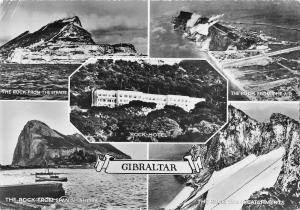 B108055 Gibraltar Rock Hotel The Rock from the Straits Panorama real photo uk