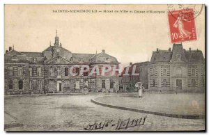 Old Postcard Bank Sainte Menehould City Hotel and Caisse d & # 39Epargne