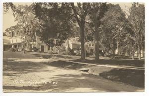 North Bridgton ME Dirt Street View 1932 RPPC Real Photo Postcard
