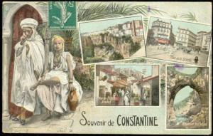 algeria, CONSTANTINE, Multiview, Native Types, Street Scenes (1911)