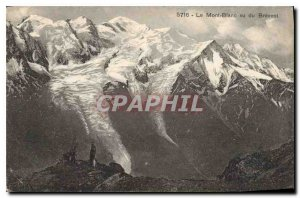 Old Postcard Mont Blanc seen of Brevent