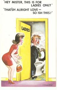Hey Mister, this is for ldies only Saucy Bamforth Comic Series PC #072