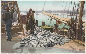 GLOUCESTER , Mass. , 00-10s ; Unloading Gorton's Codfish