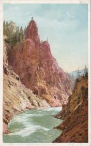 Red Pinnacle Yellowstone National Park Detroit Publishing