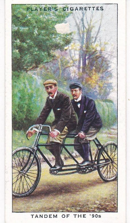 Cigarette Cards Players CYCLING No 22 Tandem of the '90s