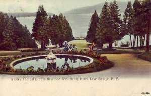 VIEW FROM FORT WM. HENRY HOTEL LAKE GEORGE, NY 1906