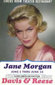 Jane Morgan Actor, Actress, Movie Star,  Actress / Actor Postcard Post Card O...
