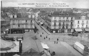 Saint-Nazaire France Panaramic Street Views Store Fronts Postcard