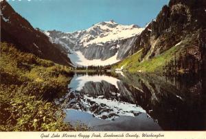 Goat Lake Mirrors Foggy Peak - Snohomish County, Washington