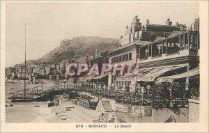 Postcard Old MONACO - The Beach