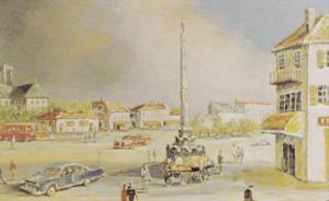 Morris Katz Painting     Paris in June