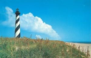 Cape Hatters Lighthouse, 1968 used Postcard