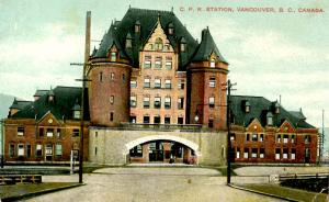Canada - British Columbia, Vancouver. CPR Station