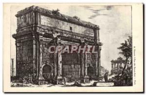 Old Postcard Arc de Triomphe