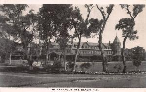 The Farragut, Rye Beach, New Hampshire, Early Postcard, Unused