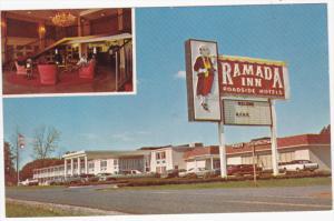 Ramada Inn, Interior and Exterior View, Interstate 85, BURLINGTON, North Caro...