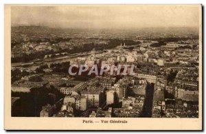 Paris Old Postcard General view