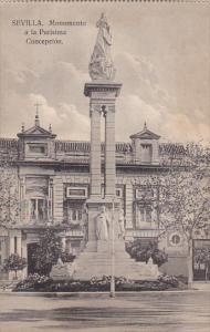 Spain Sevilla Monumento a la Purisima Concepcion