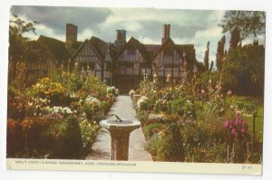 UK Hall's Croft Stratford on Avon Susanna Shakespeare Postcard Scouting Cancel