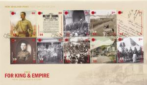 New Zealand Story Post For King & Empire Stamp FDC 1914 First Day Cover