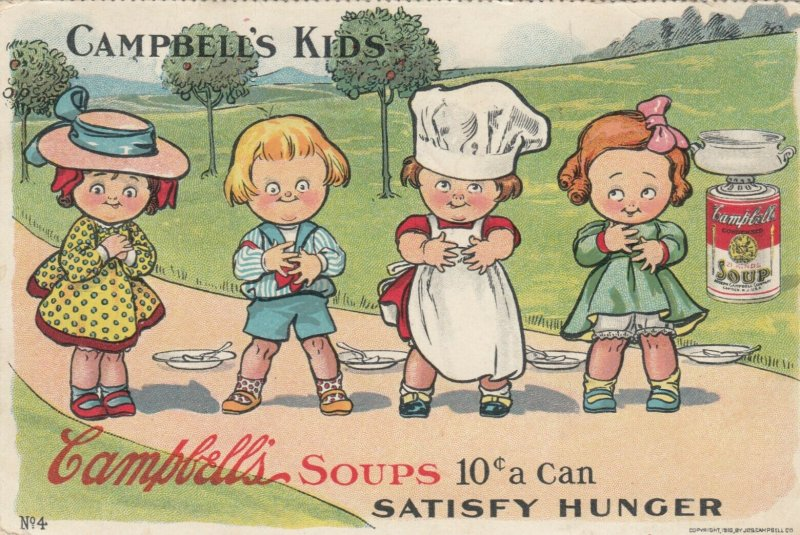 CAMPBELL'S Soup Kids n04 , PU-1910 ; Satisfy Hunger ; Grace Drayton
