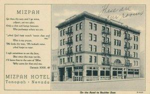 TONOPAH , Nevada, 1900-10s ; Mixpah Hotel