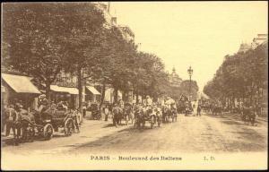 france, PARIS, Le Boulevard des Italiens, Horse Cart (1910s) L.D.