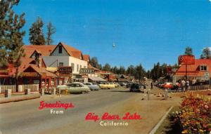 Bear Lake California Main Street Scene Historic Bldgs Vintage Postcard K31046