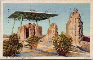 Casa Grande Ruins Arizona AZ c1936 Postcard F14