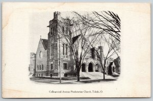 Toledo OH~Castellated Tower Atop Huge Presbyterian Church~Large Arches~c1906 PC