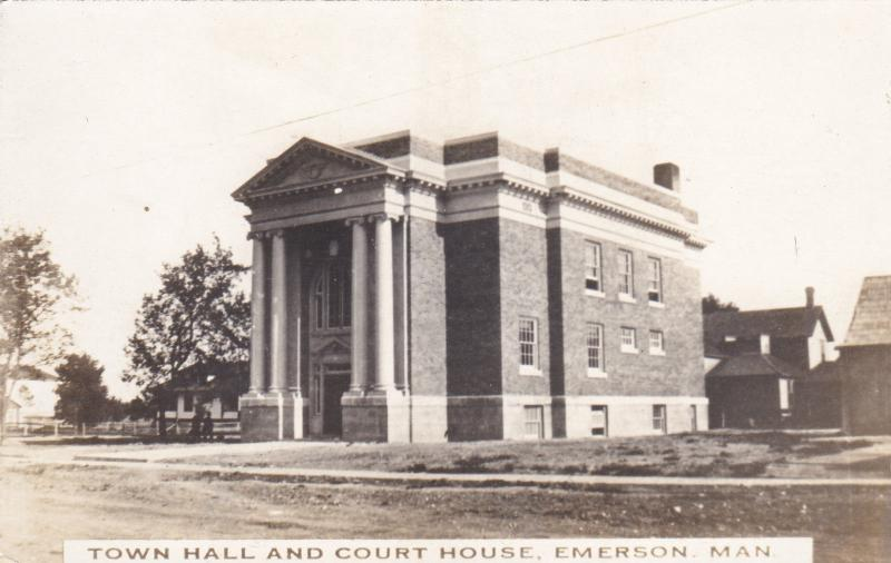 RP; Court House and Town Hall, Emerson, Manitoba, Canada , 1910s-20s
