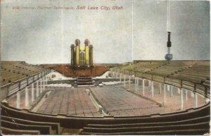 Vintage Postcard, Interior of Mormon Tabernacle Salt Lake City Utah Church