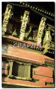 Postcard Modern Wood Carving Kathmandu